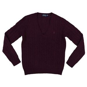 Polo Ralph Lauren Wool Cashmere V Neck Sweater